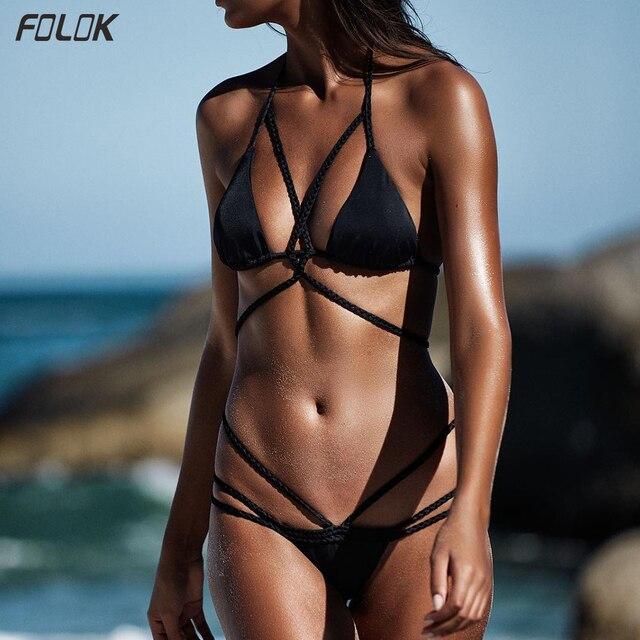 Push Up Strappy Half Cup Bikini 8