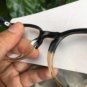 Image 5 - Women round eyeglasses frames black/havana Italy handmade acetate