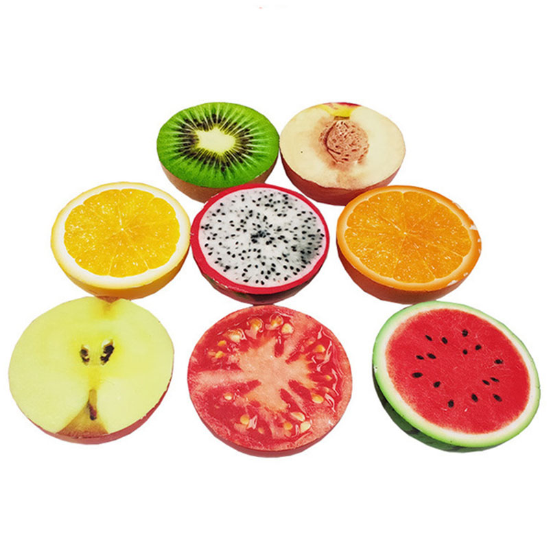 Kawaii Fruit Lemon Apple For Squishy Slow Rising Toy Vegetables Tomatoes Squeeze Toy Jumbo Squish Toys For Children Kids Gifts