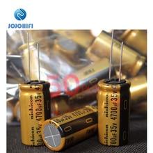 3pcs Nichicon 4700UF 35V 18x35mm FW Gold Pitch 7.5mm Audio High Voltage Electrolytic Capacitors конденсатор nichicon kg super through 16v 4700uf