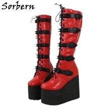Sorbern 15Cm Sleehak Enkellaarsjes Vrouwen Platform Winter Stijl Schoenen Pluche Linning Zip Up Booties Lady Custom Kleur