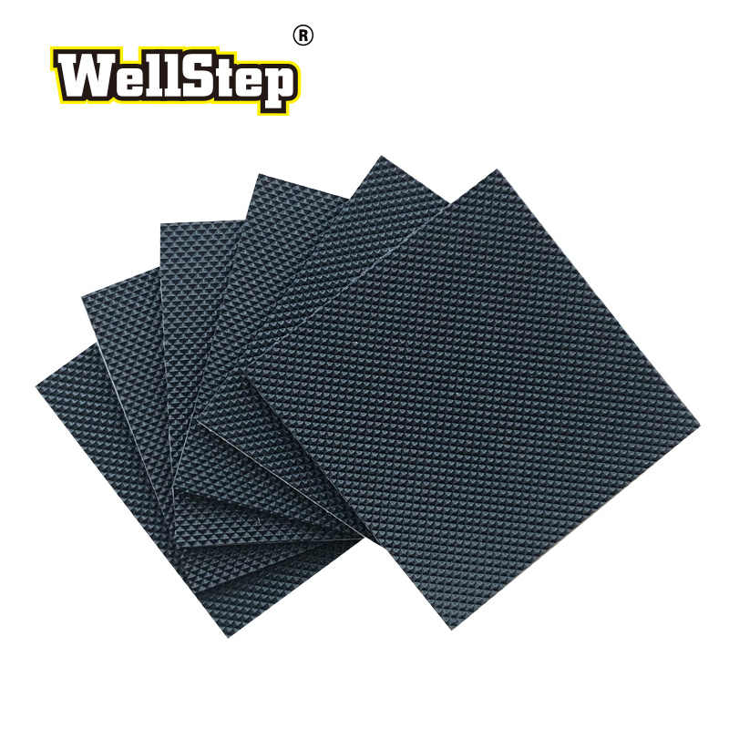 Wellstep 1 Paar Schoen Hak Protector Stille Pad 1 Mm Dikke Zelfklevende Rubber Sticker Care Kit Mannen Lady non Slip Anti Slip Grip