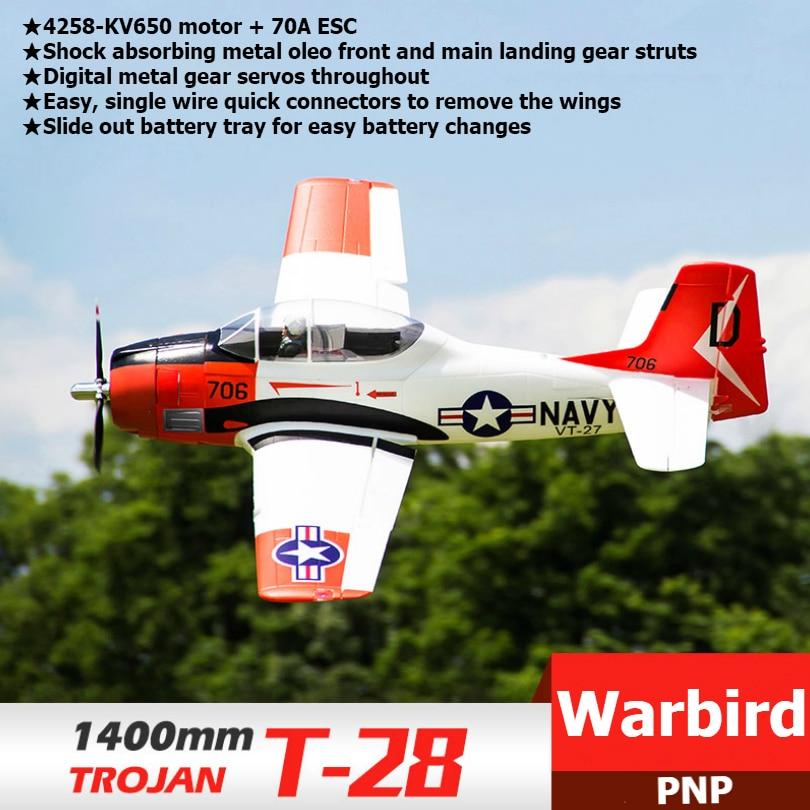 FMS RC avión 1400mm 1,4 M T28 T-28 troyano V4 6CH PNP Gran Escala Gaint Warbird modelo avión con solapas retractadas LED Flysky FS-SM100 RC simulador de vuelo USB con Cable FMS controlador de helicóptero 2,4G