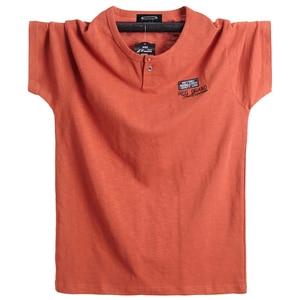 Image 1 - Além de tamanho 5xl 6xl homens grande altura camiseta mangas curtas oversized t camisa de algodão masculino grande t camisa de verão apto t verão topos t