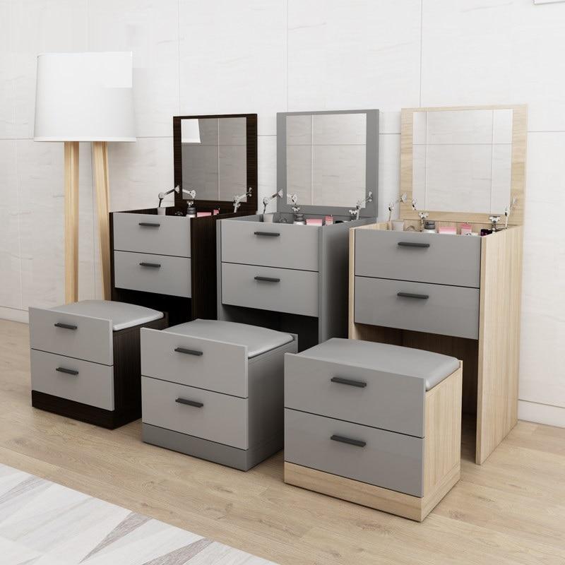 Современный мини набор для туалета с выдвижным зеркалом Многофункциональный туалетный столик семейная мебель мандарная доска Сюрприз подарок - 4