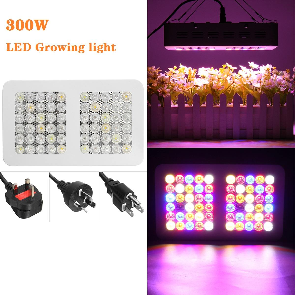 300W Plant Grow Light Full Spectrum Led Grow Lights LED Panel Lamps For Hydroponic Vegs Flower Growing Tent Lighting For Indoor