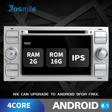 2 din Car Radio Android 8.1 GPS DVD For Ford Focus Fiesta Mondeo 4 C-Max S-Max Fusion Transit Kuga Multimedia Navigation