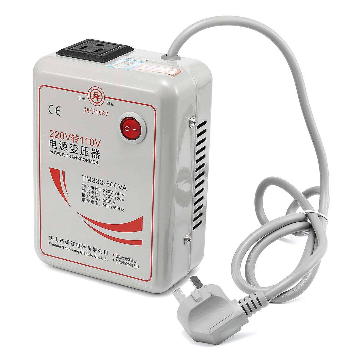 ac 220v a 110v inversor carregador transformador de tensao step down conversor de voltagem 500 watts
