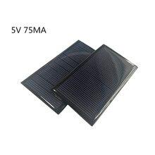 1pcミニモノラル80*45ミリメートルのためのソーラーパネル5v 60MAミニソーラーパネル充電と生成電気