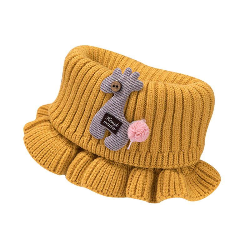 Шарф для маленьких мальчиков и девочек; зимний теплый шарф с рисунком лошади; плотные шарфы с воротником для новорожденных; шейный платок для малышей; - Цвет: Y