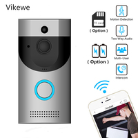 Smart Door Phone Ring Bell Wireless WiFi Video Doorbell Camera Night Vision Video Intercom Home Security Monitoring Video eye