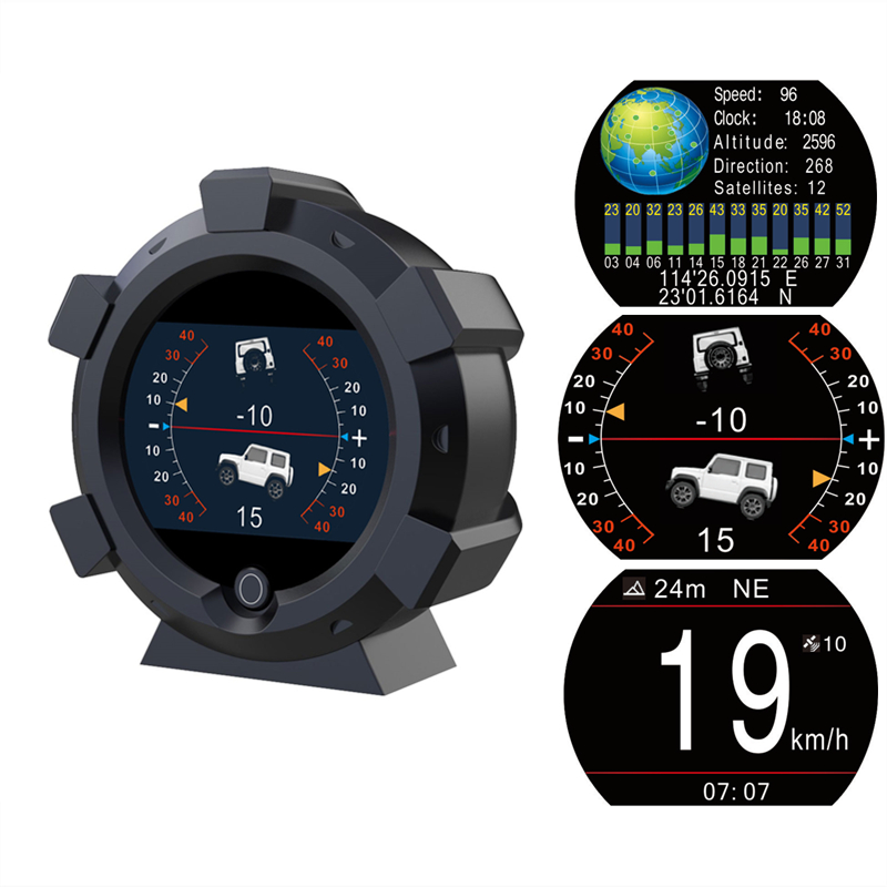 AUTOOL Car-Compass Speedometer Longitude KMH GPS Pitch X95 Tilt Horizontal PMH