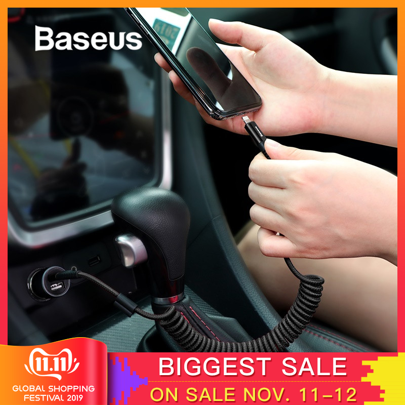 Baseus Spring USB Cable for iPhone Charger Fast Charging Data Cable USB for Car Styling Storage Wire for iPhone X 8 7 6 6s Plus-in Mobile Phone Cables from Cellphones & Telecommunications on AliExpress - 11.11_Double 11_Singles' Day