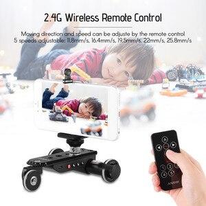 Image 3 - Andoer PPL 06S פרו אלומיניום סגסוגת ממונע וידאו מצלמה דולי מסלול מחוון + טלפון מחזיק לgopro גיבור 7 Canon Sony DSLR מצלמה