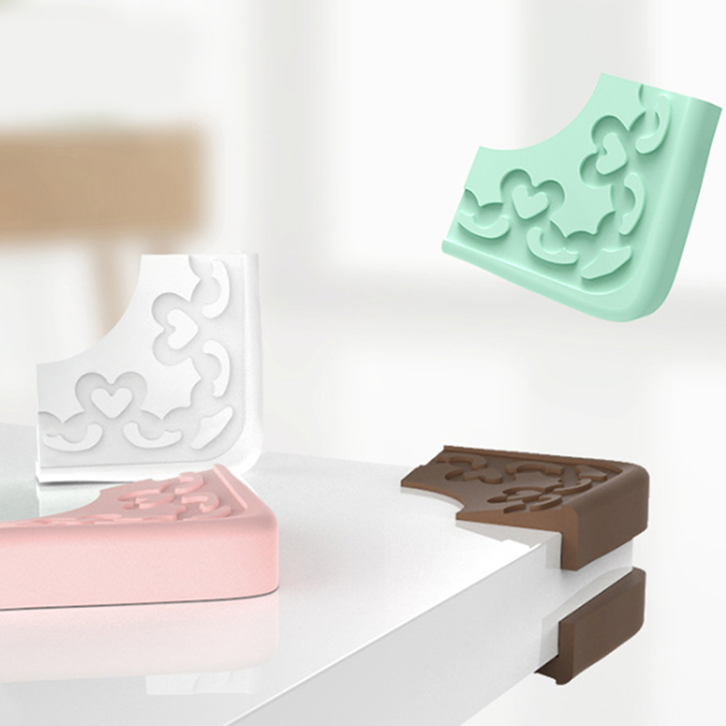 Baby Safety Children Anti Collision Furnitures Edge Corner Guards Silicone L Shape Protector Cover Table Corner Guards