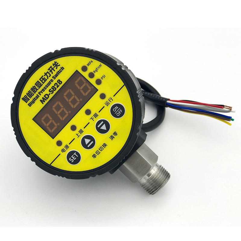 Controller Digital Display Pressure Switch Electric Contact Pressure Gauge Double Group Relay MD-S828