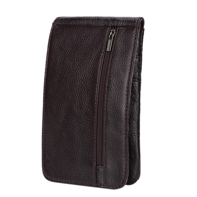 MISFITS Leather Men's Pockets Mobile Phone Bag Wear Belt Bag Outdoor Mountaineering Bag