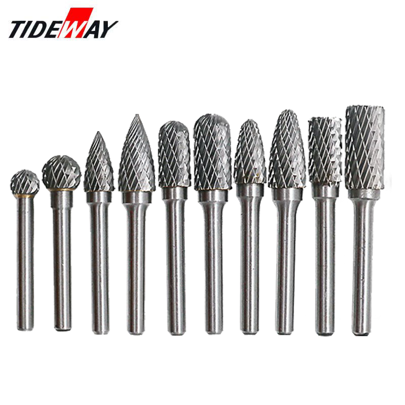 Haowook 6mm HSS Routing Router Drill Bits Set Dremel Carbide Rotary Burrs Tools Wood Stone Metal Root Carving Milling Cutter