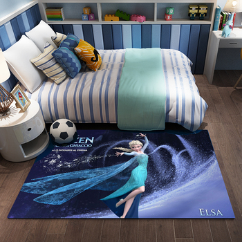 Girls Princess Mat Cartoon Elsa Playmat 3D Printed   Livingroom Carpet Doormat  Kids Large Carpets Playmate Rug Home Decor persian totem printed home decor antiskid rug