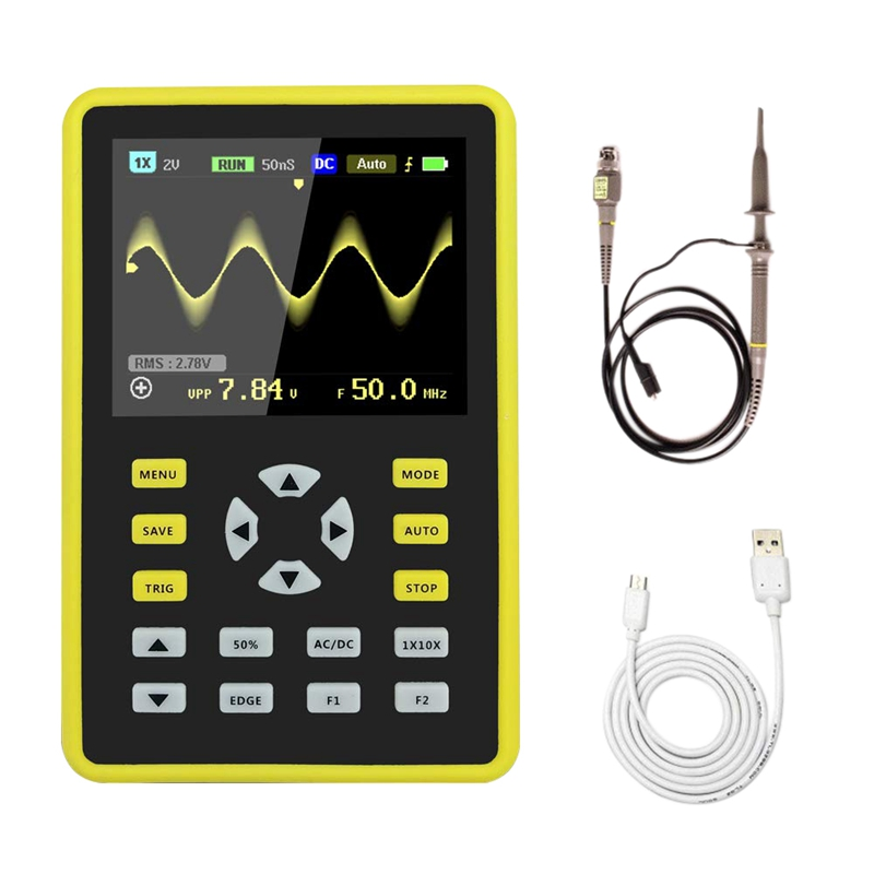 5012H 2.4 inch LCD Display Screen Handheld Portable Digital Mini Oscilloscope with 100MHz Bandwidth and 500MS/s Sampling Rate