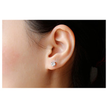 Lovely Stud Earring for Girls Silver Plate Crystal Cat Flower Earings with Elements Wholesale Butterfly Earrings