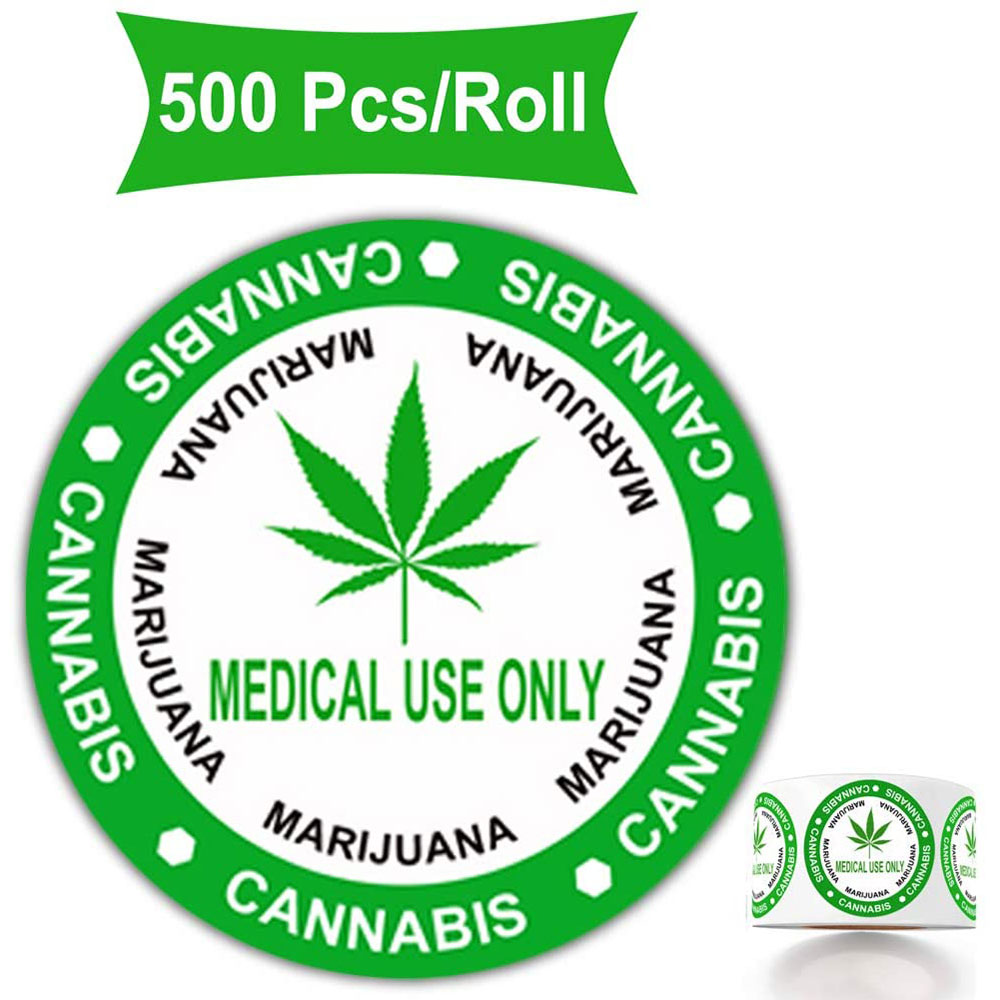 500 Rustic Style Warning Labels - Medical USE ONLY - 1.5 Inch Round Circles Adhesive Warning Stickers (Green)