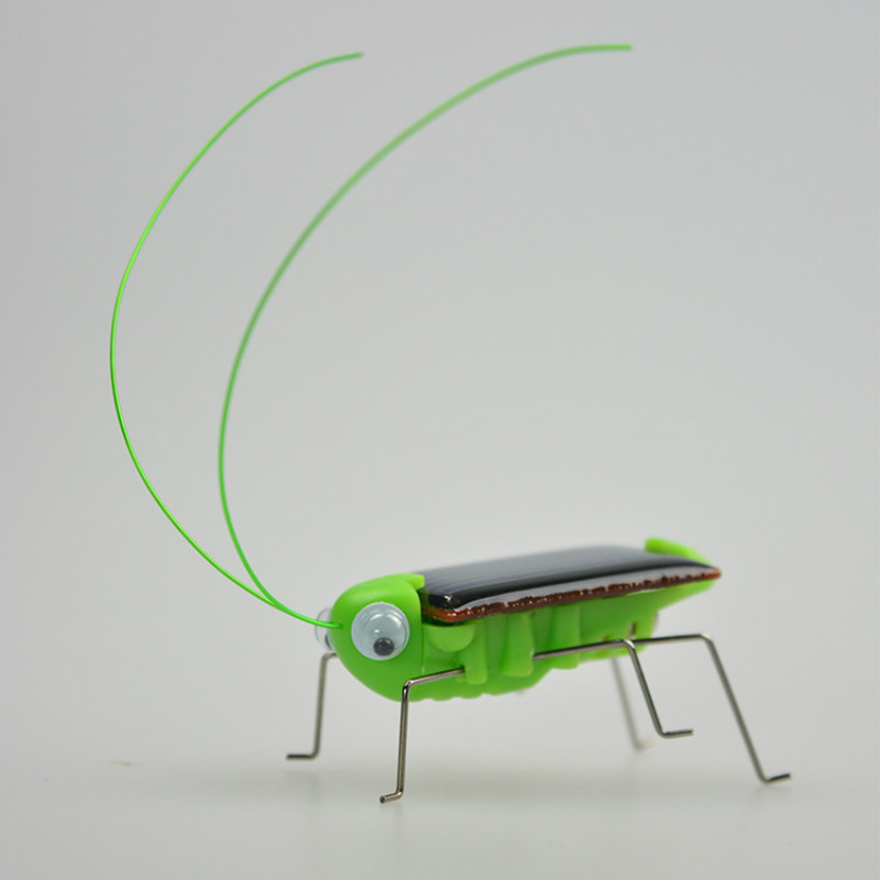 Mini Solar Grasshopper Cockroach Educational Solar Powered Toy Play Solar Novelty Toys For Children Gift No Batteries For Kids