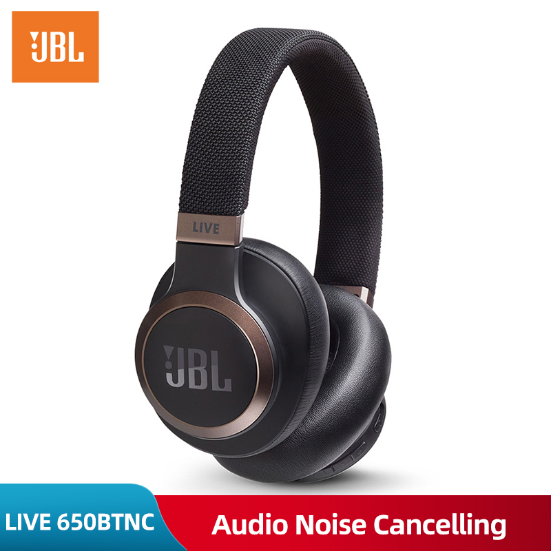 JBL LIVE 650BTNC Bluetooth Headphone Audio Noise Cancelling Smart Voice Wireless Headphones Stereo Music Dynamic Gaming Headset  - buy with discount