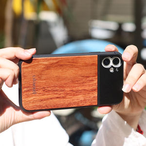 Image 2 - Ulanzi 17MM Thread Wooden Phone Case for iPhone 8 Plus Xs Max XR for iPhone 11 Pro Max