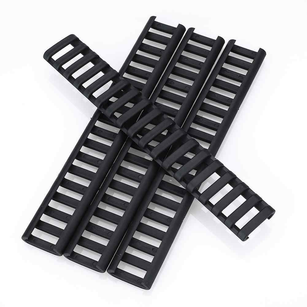 4 Stuks 18 Slots Ladder Rail Cover Plastic Fish Bone Airsoft Rifle Handguard Protector Rubber Picatinny Rail Covers Gun Accessoires