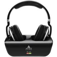 Wireless TV Headphones, Artiste ADH300 2.4GHz Digital Over-Ear Stereo Headphone for TV 100ft Distance Transmitter Charging Dock
