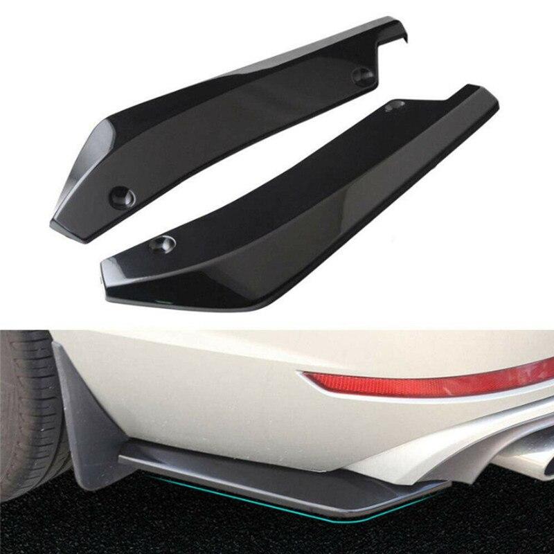 2x Universal Rear Bumper Spoiler Canards Diffuser Car Side Fin Scratch Protector