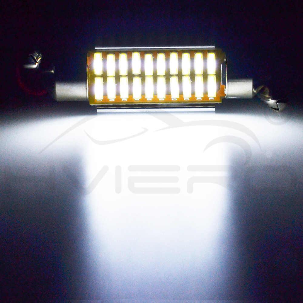 Auto LED Putih Memperhiasi Dome C5W C10W Bulb 31 Mm 36 Mm 39 Mm 42 Mm LED 4014 SMD CANBUS kesalahan Gratis Auto Interior Doom Lampu Cahaya Otomatis