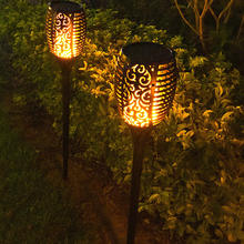 12 Led Solar Flame Lamp Outdoor Zaklamp Lights Veiligheid Waterdichte Licht Flikkeren Lichten Tuin Decoratie Gazon Licht Landschap Lamp(China)