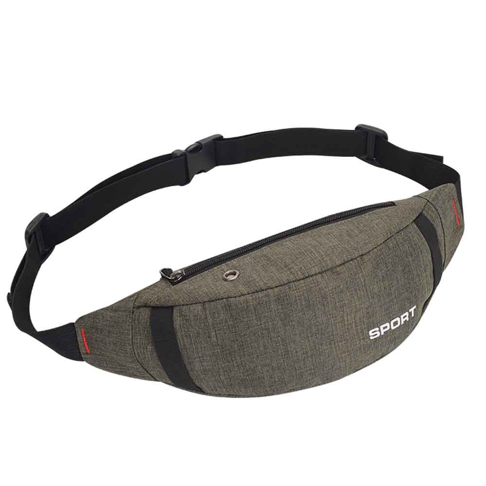 Unisex Waist Bag Messenger Purse Bag Casual Sports Headset Nylon Breast Package Fashion Simple Pure Color Multipurpose H1