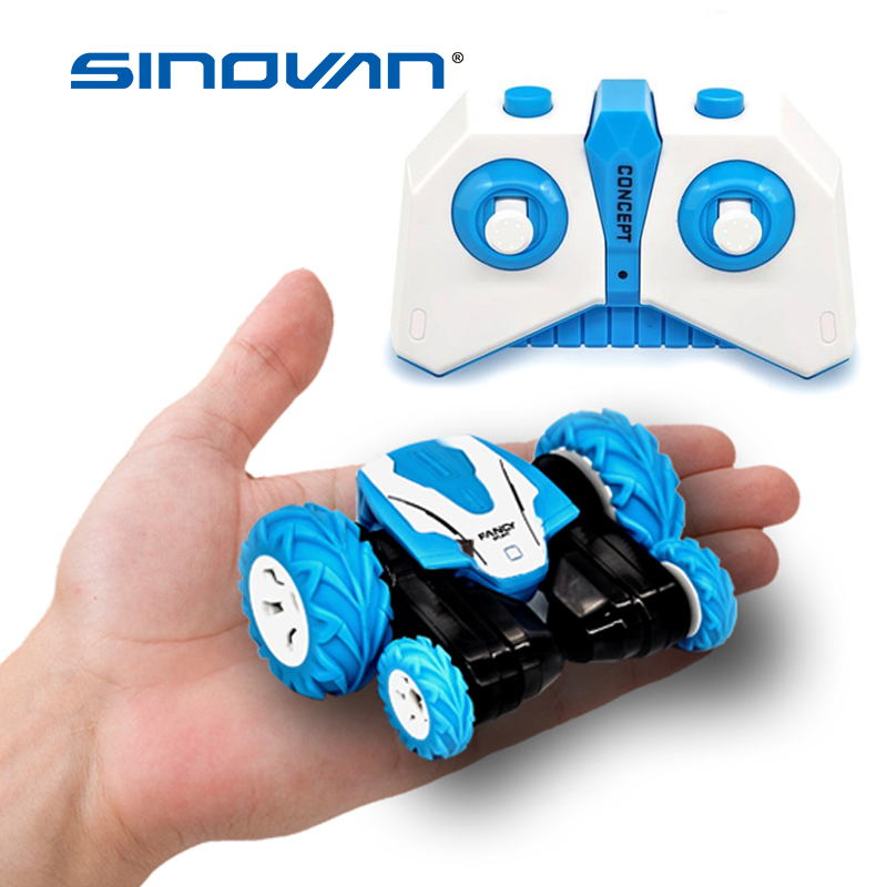 Sinovan Mini RC Car 2.4G 4CH Stunt Drift Deformation Buggy Rock Crawler Roll Car 360 Degree Flip Car Blue Toys For Kids