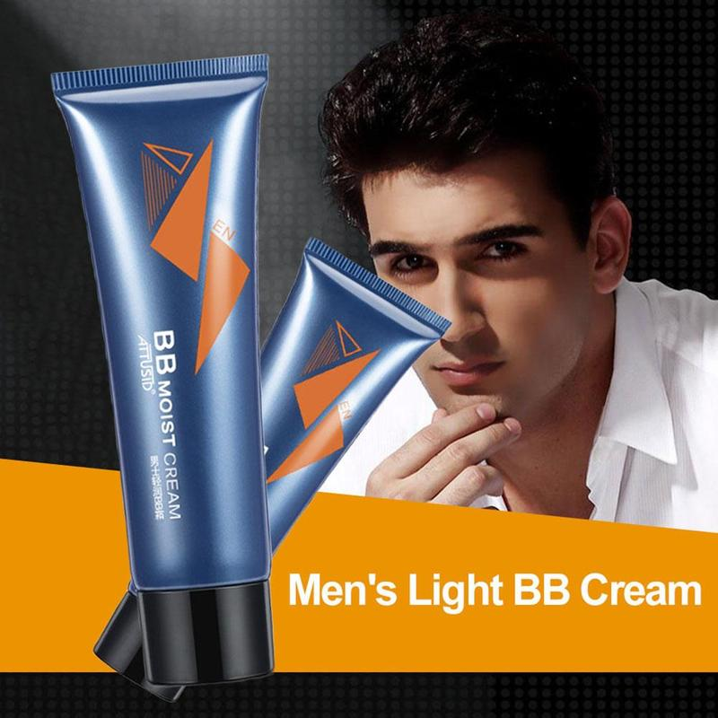 1 Pcs Men's Moisturizing Nourishing Nude Foundation Lazy Concealer Handsome Artifact Whitening Brightening Concealer BB&CC Cream