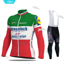 QUICK STEP Pro Team 2020 Cycling Set Racing Clothes Long Sleeve Wear Jersey Mens Kit Clothing Ropa Ciclismo