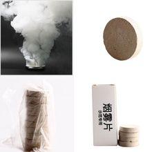 10 шт./партия белый дым таблетки Хэллоуин реквизит сгорания смога торт эффект дымовая бомба таблетки Портативный фотография Реквизит#7
