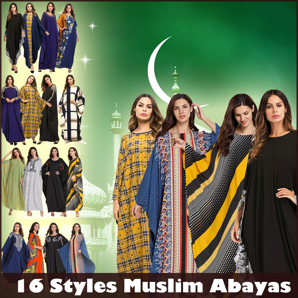 Muslim Woman Abaya Dubai Turkey Dress Plus Size Islamic Clothing Moroccan Kaftan Turkish Djellaba Islam Kimono Caftan Marocain