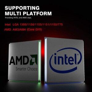 Image 2 - darkFlash CPU Air Cooler 3Pin Radiator RGB 120mm Cooler CPU Cooling Computer Case for LGA 1366/1156/1155/1150 AM4/AM3
