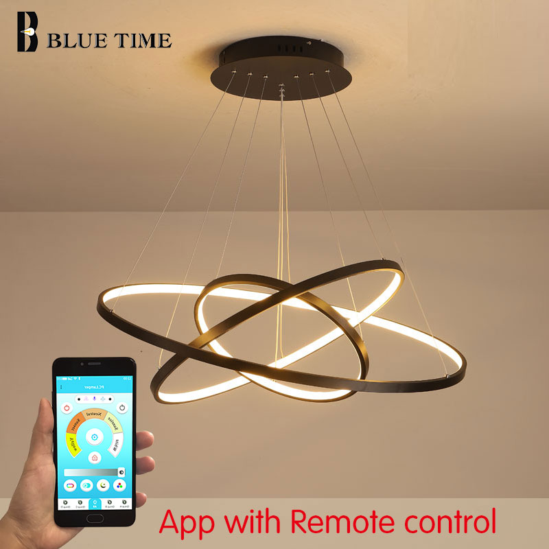 Modern Led Pedant Light 3 Circle rings Pendant Lamps For Living room Dining room Kitchen Bedroom Hanging Lamp Metal Home Ceiling