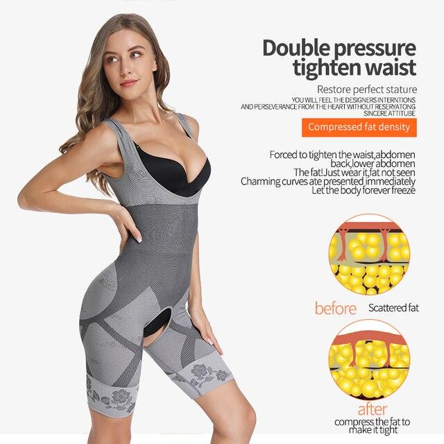 Bodysuit Shapewear Women Body Shaper Waist Trainer Stomach Slimming Underwear Faja Belt Mujer Leg Tummy Control Shaper Trimmer 3