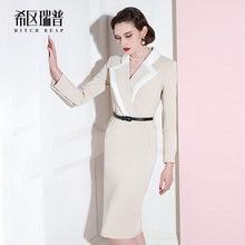 High end ol terno vestido profissional de costura feminina celebridade temperamento magro vestido 2021