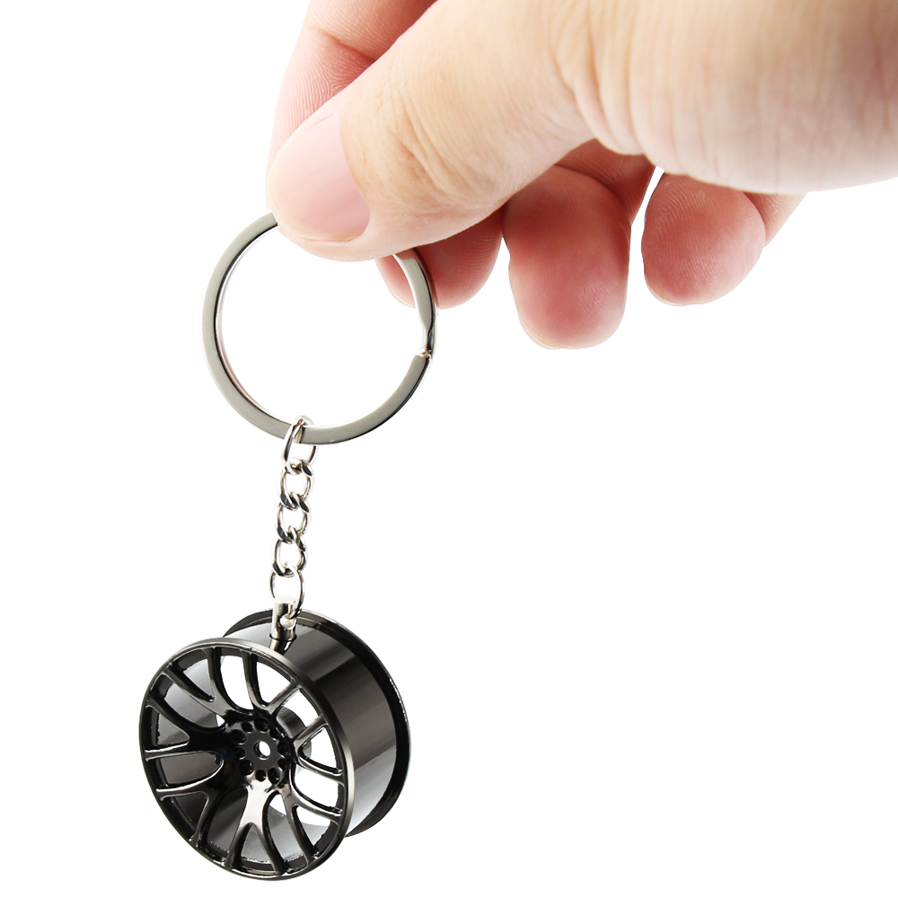 Wheel Rim Hub Tuning Mini Keychain Key Chain Keyring Key Ring Pendent JDM Hellaflush Zinc Alloy Car Truck TE37 CVT MB Design(China)