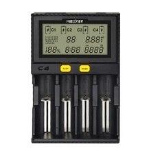Cargador de batería Li Ion cargador de 18650 para 21700, 18490, 17670, R13650 17355 16340 AA batería