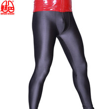 Legging Form-Fitting High-Elastic Trousers Shaping-Pants Men Hip Spandex Mention Low-Waist