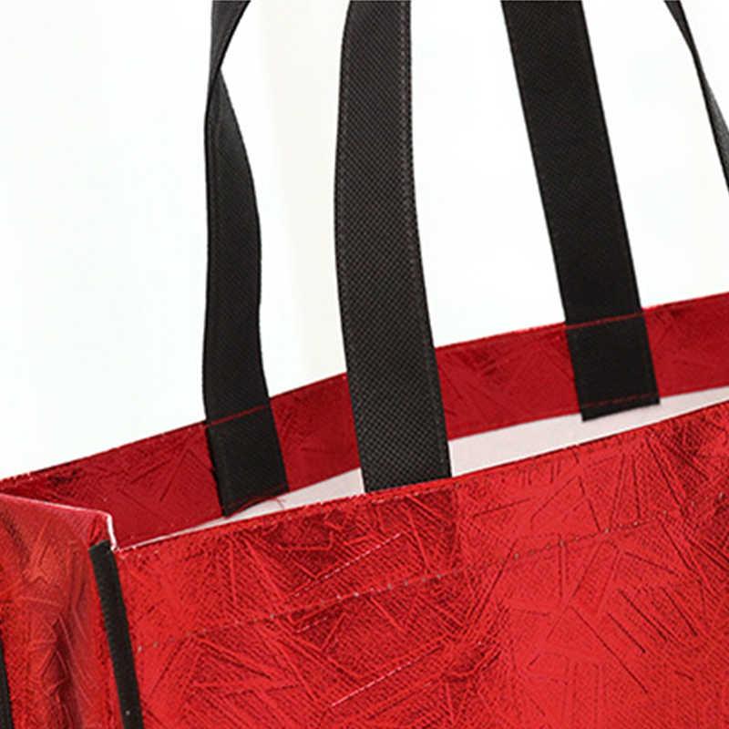 Femmes sac à provisions réutilisable grande capacité toile voyage sacs de