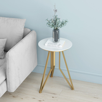 Nordic creative marble round small coffee table simple sofa side bedside table corner tea table easy assembly living room table