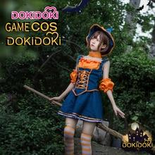 DokiDoki League of Legends Game Cosplay Nidalee the Bestial Huntress Women Pumpkin Cute Dress Costume